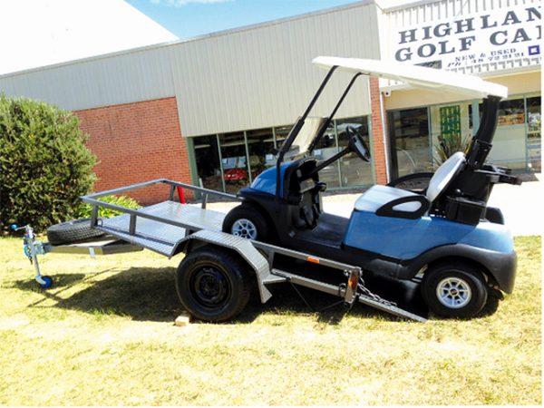 tilting golf cart trailer